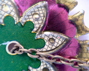 Macro close up picture jewelry - Upcycled recycled repurposed vintage tins