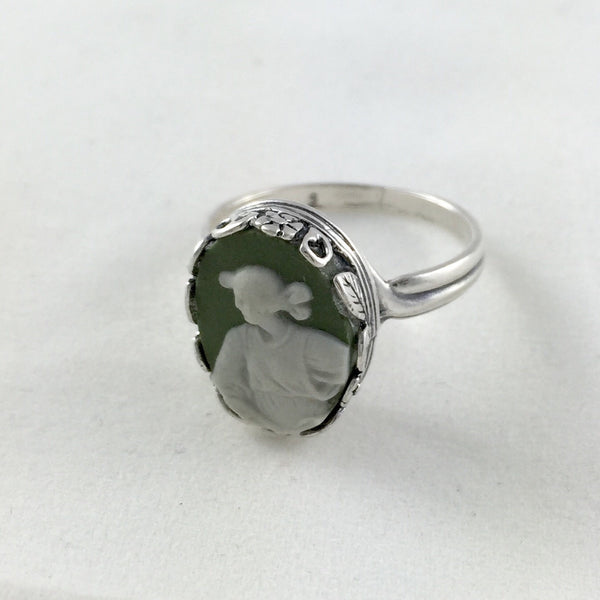 Broken China jewelry ring