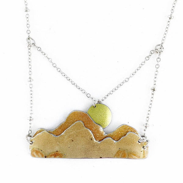 Mother's Day gift ideas - Tin jewelry mountain necklace