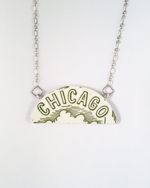 Chicago jewelry - necklace - broken China jewelry