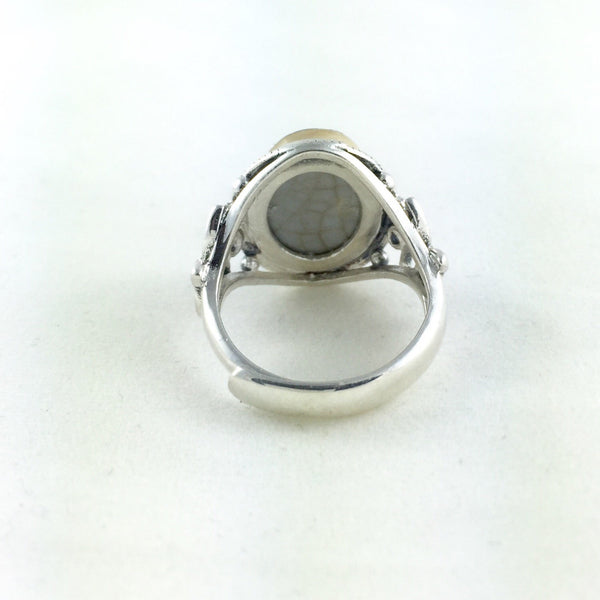 Adjustable size Sterling silver ring - statement ring