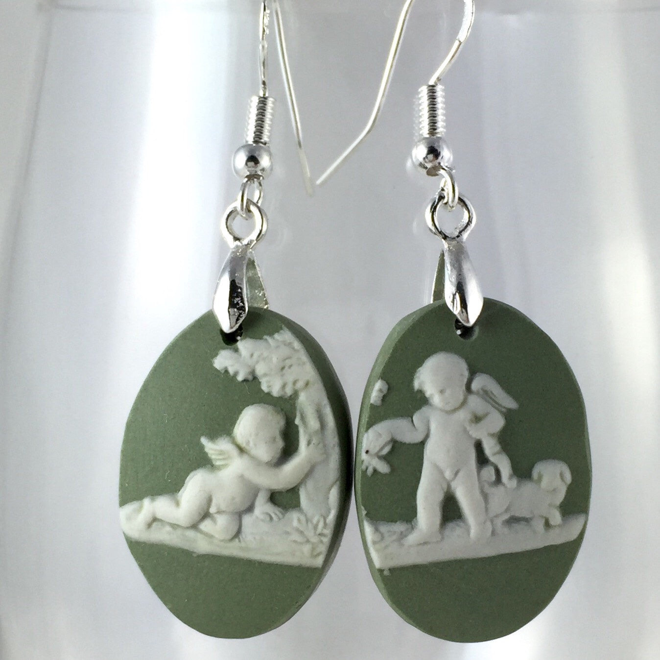 Broken China jewelry earrings  - handmade gift ideas