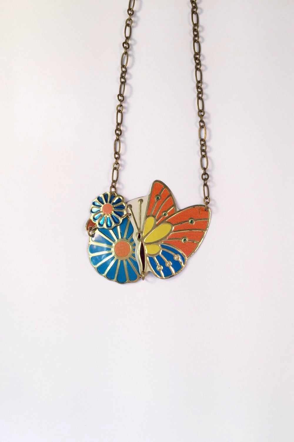 Recycled Tin Jewelry - Women's Butterfly Necklace main image