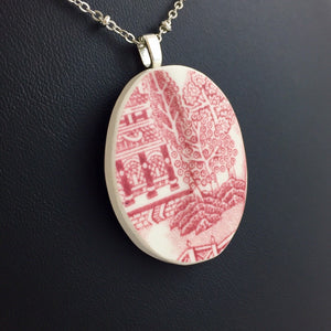 Red willow necklace plate jewelry