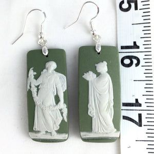 Broken China jewelry earrings