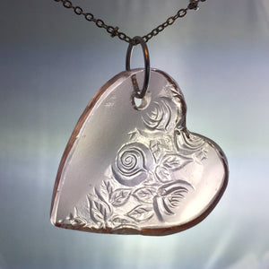 pink depression glass necklace jewelry