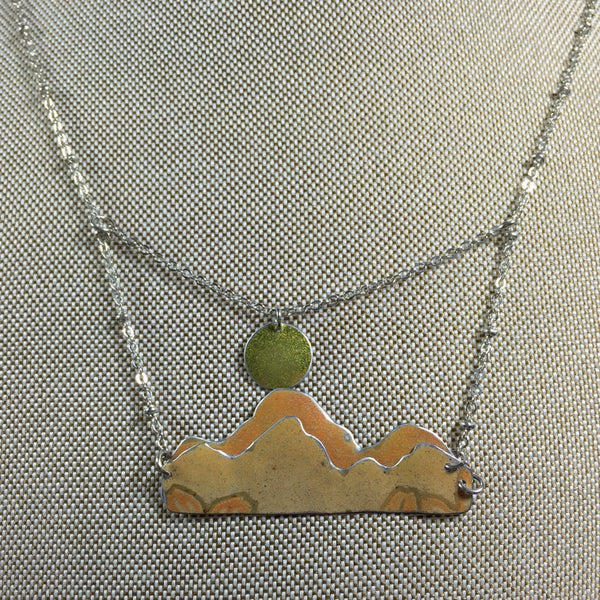 Vintage tin jewelry - outdoorsy jewelry