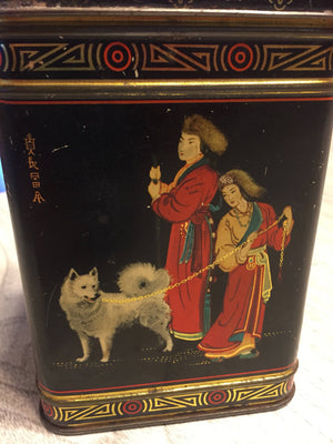 Vintage Biscuit tin - Asian dog breeds