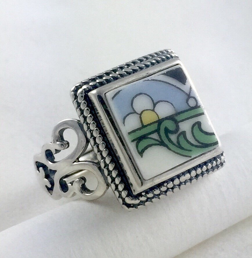 Broken China jewelry ring  - Mother's Day gift ideas -  handmade gift ideas