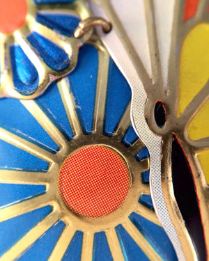 Recycled Tin Jewelry - Women's Butterfly Necklace zoom image