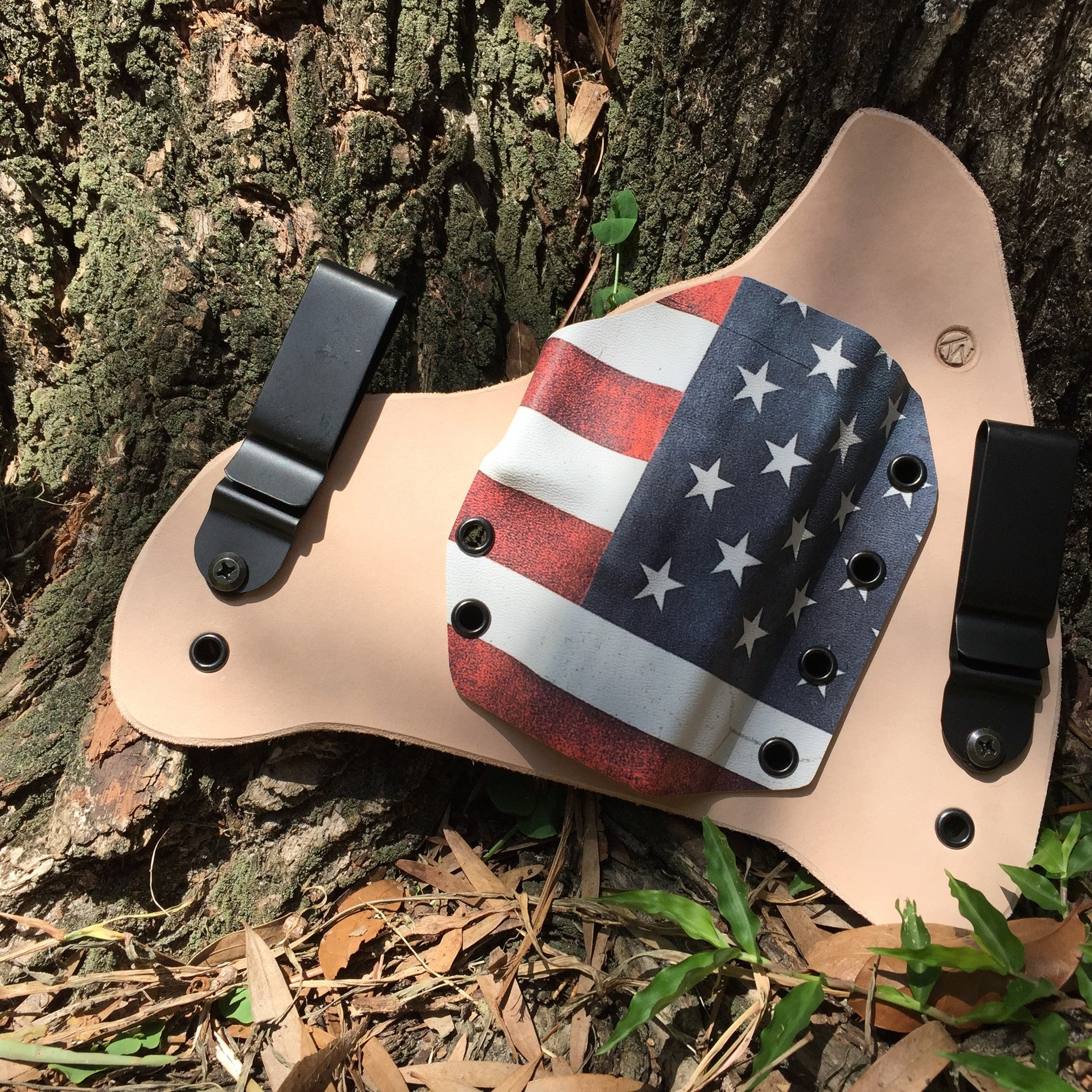 Holster Leatherback IWB- Graphic Color Kydex - LEFT HANDED
