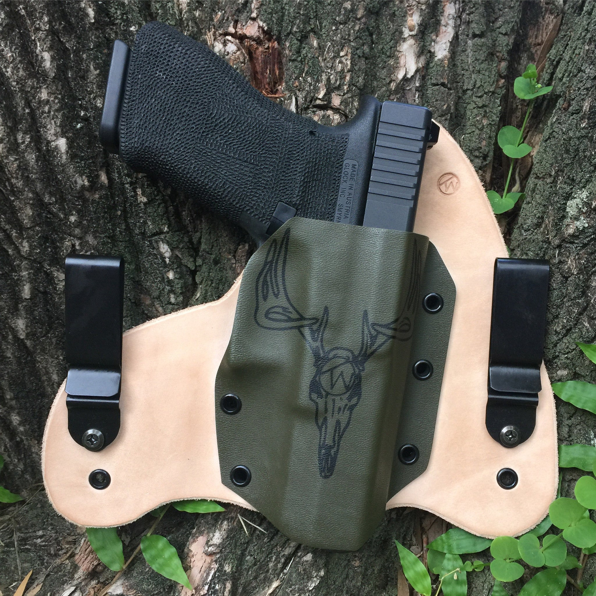 Holster Leatherback IWB- Graphic Color Kydex - RIGHT HANDED