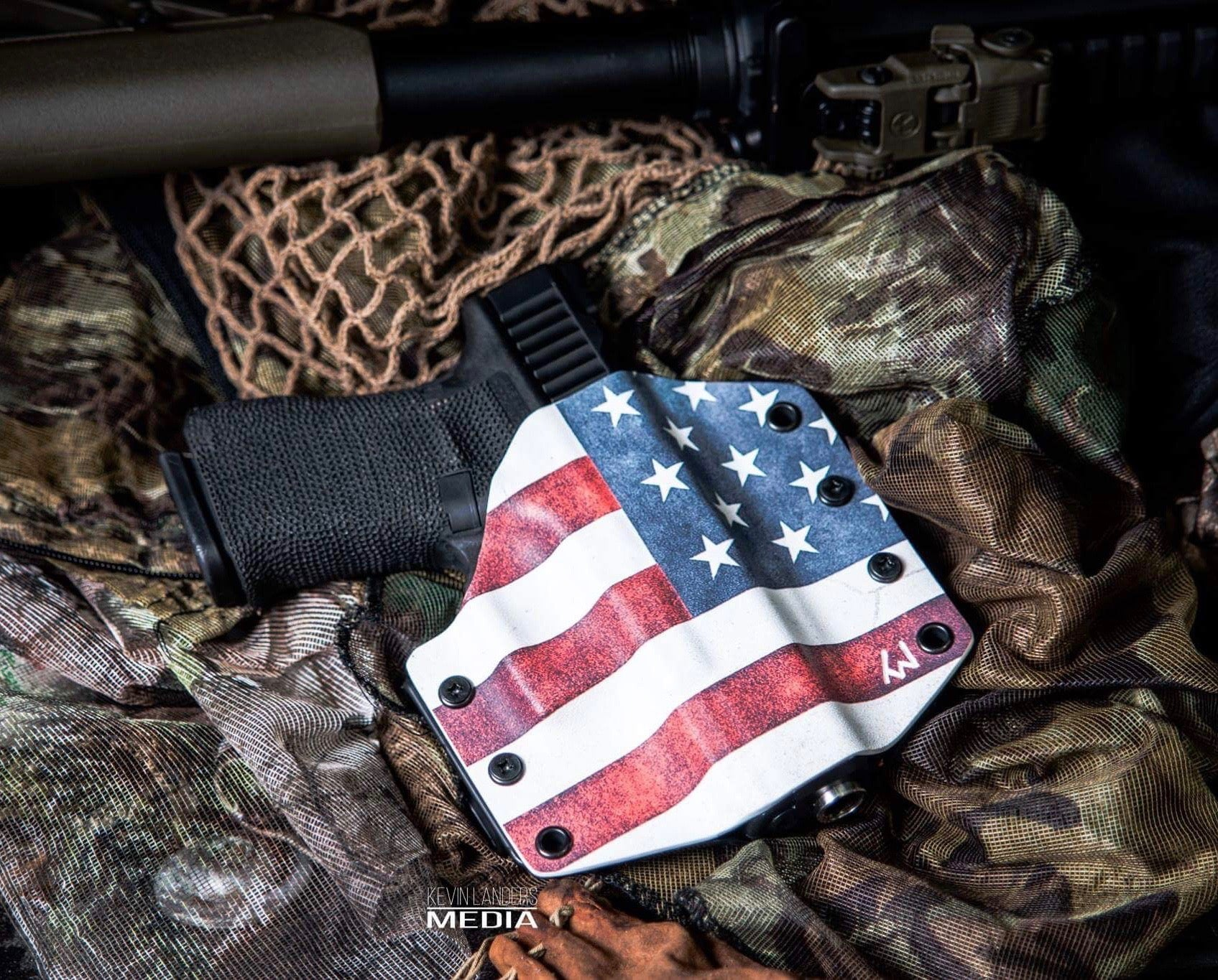 Holster Warrior  OWB - Graphic Color Kydex- RIGHT HANDED