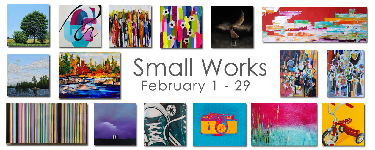 Small Works Exhibition Banner