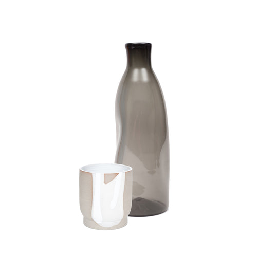 amelie lucier & julien mongeau - glass and ceramic carafe set