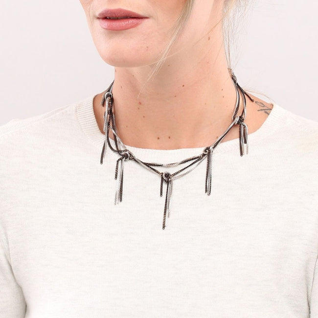 Breva multi knot necklace