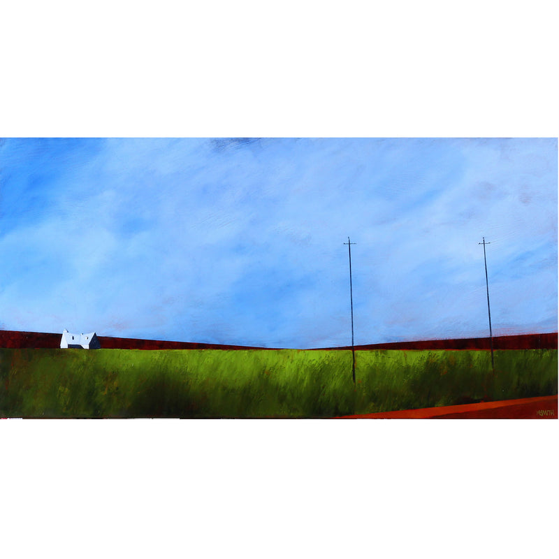 "Mike Smith - Fields of Green 18"" x 36"""