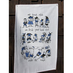 Book club tea towel