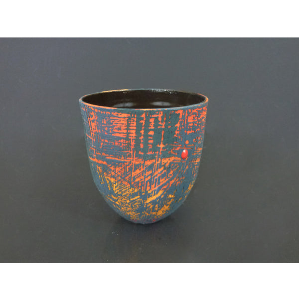 Lesley McInally - Peacock Blue Vessel