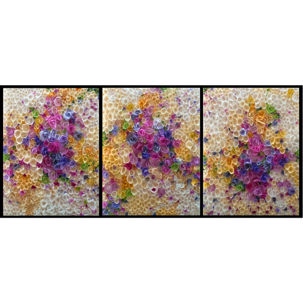 "Sunburst 1,2,3 30""x 40"" Panels"