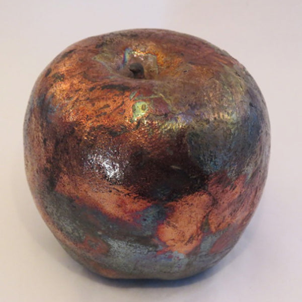 DORIS KUEHN LARGE CERAMIC APPLE