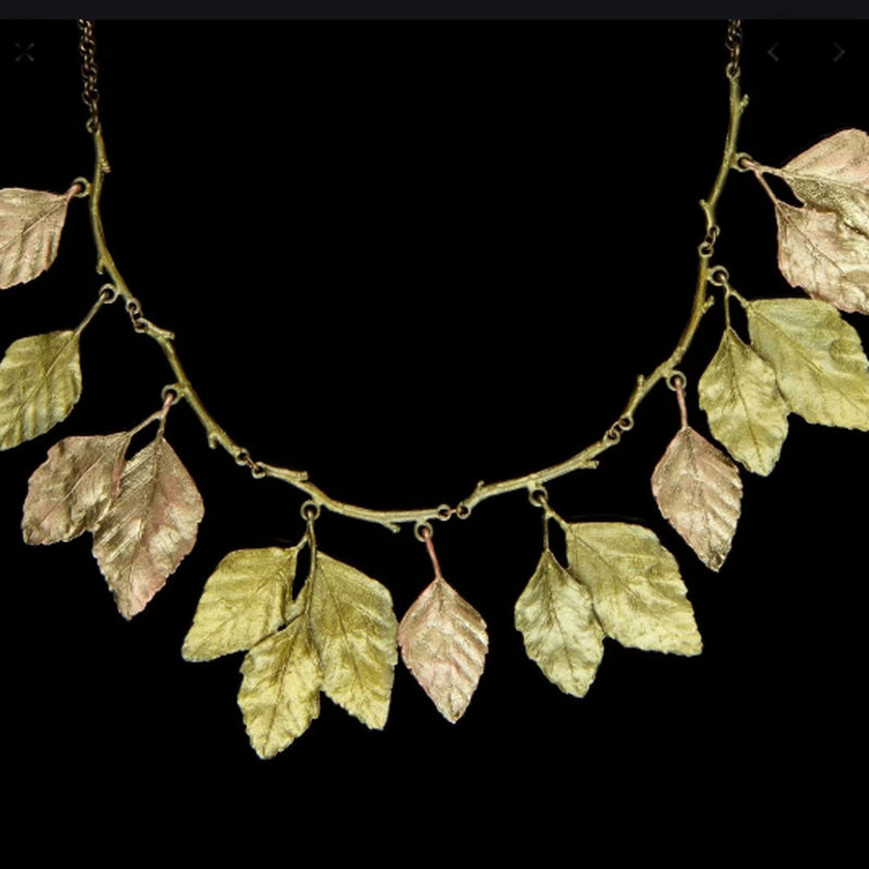 "Micheal Michaud - Autumn Birch 18"" Necklace"