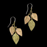 Michael Michaud - Autumn Birch 3 Leaf Earrings
