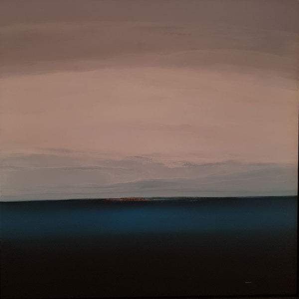 "Chris Masoure Blue Horizon 45"" x 45"""