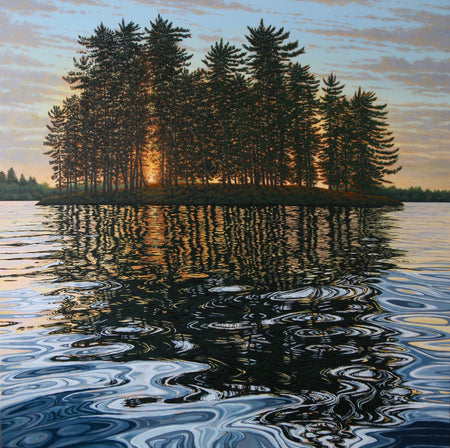 "Sunrise Muskoka River 16"" x 22"""