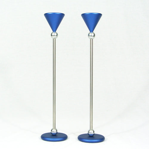 Dabbah Judaica- blue candlesticks