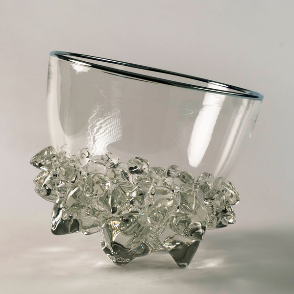 "Andrew Madvin - 11"" Thorn Vessel Crystal Clear"