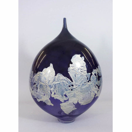 "Atlas Vase 13.5"" Amethyst/Red"