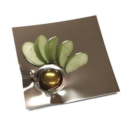 Iridescent Tulip Bowl w/ Spreader