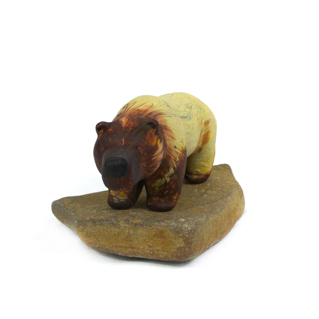 Ed colberg- grizzly large ochre swirl