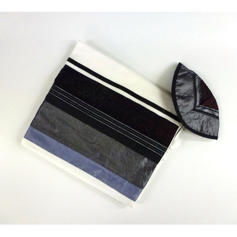 Gabrieli - Grey and Dark Maroon Tallit