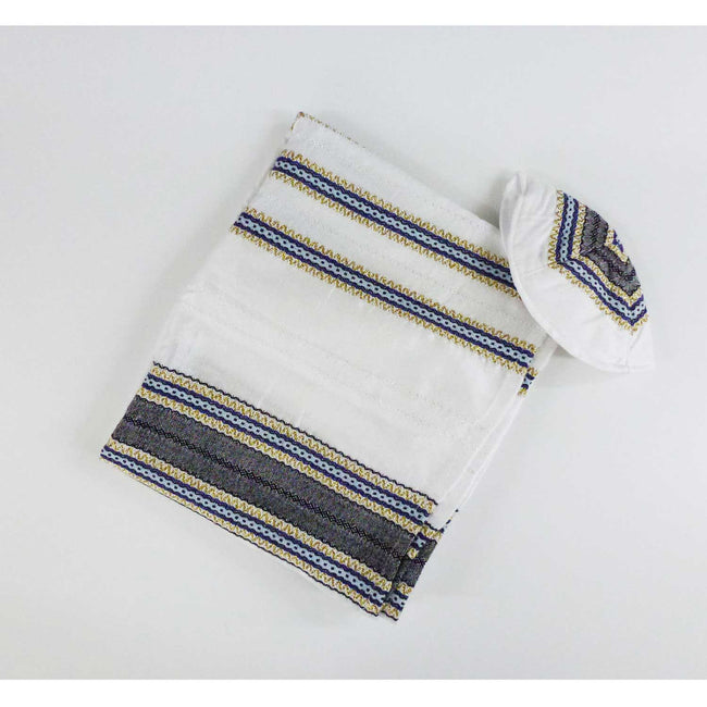 Gabrieli - Blue and Gold Embroidered Tallit