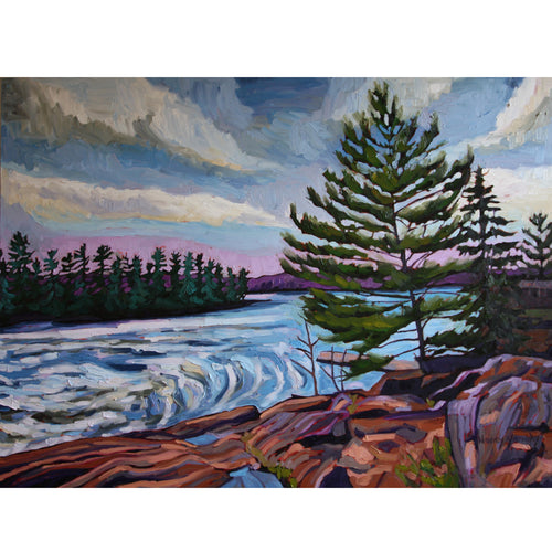 "Nancy Yanaky - Falls at Bala 36"" x 48"""