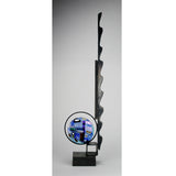 Robert Buick - Glass Disc in Abstract Steel Stand
