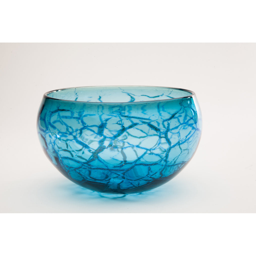 Michael Gray - Large Blue Crackle Bowl