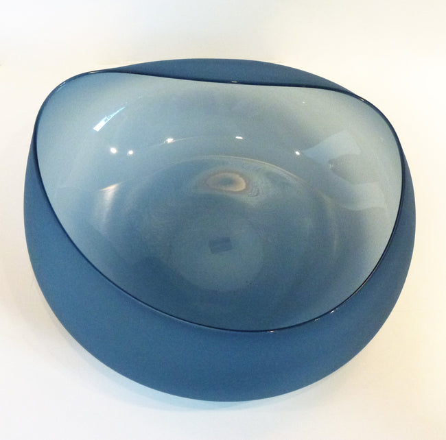 Jeff Goodman Studio - Steel Blue Topography Bowl