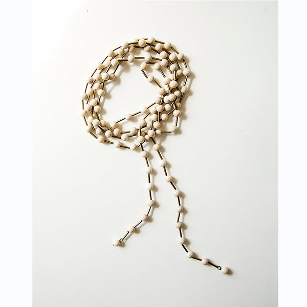 Michelle Ross - Larissa white lace agate necklace