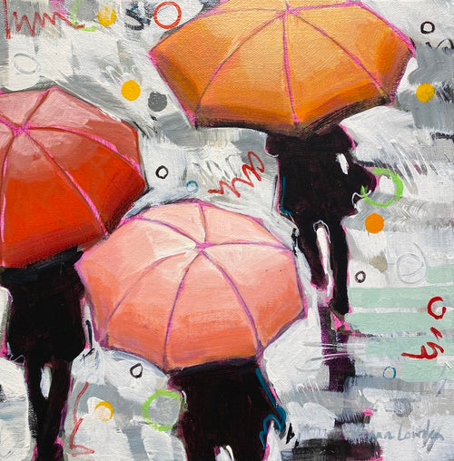 "Eleanor Lowden - Here Comes the Rain Again 2 12"" x 12"""