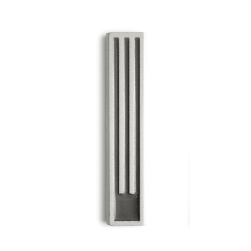 Marit Meisler - Light Cement Long Stripes Mezuzah