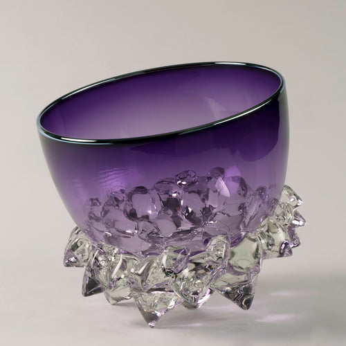 "Andrew Madvin - 9"" Thorn Vessel Amethyst"