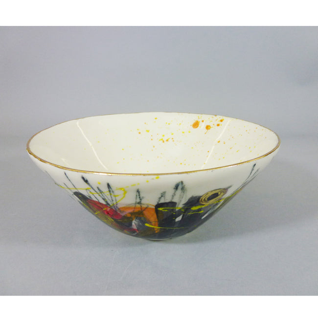 Marla Buck - Lg Graffitti Bowl w/ Gold