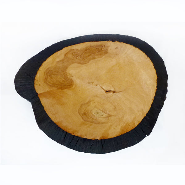 Michael Mathieu - Yellow birch burl bowl black edge