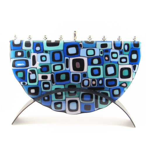 Marie Levine - Matrix Blue Menorah