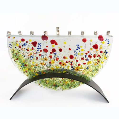 Marie Levine - wildflower menorah large
