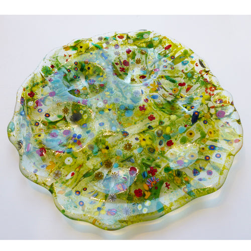 Marie Levine - Glass Wildflowers Seder Plate