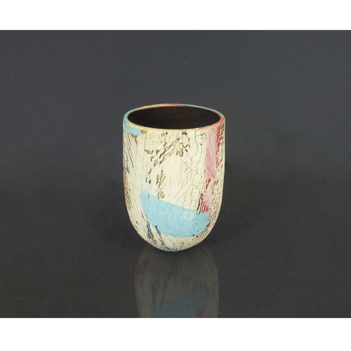 Lesley McInally - White & Red Vessel